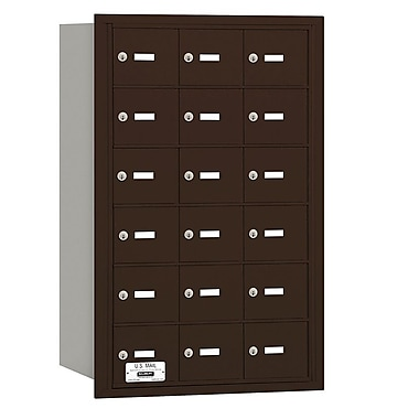 Salsbury Industries 18 Door Rear Load 4B Horizontal Mail Center; Bronze