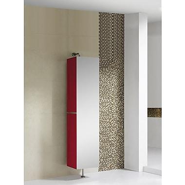 Fine Fixtures Sundance High Gloss 15.75'' W x 64.88'' H Wall Mounted Cabinet; Red