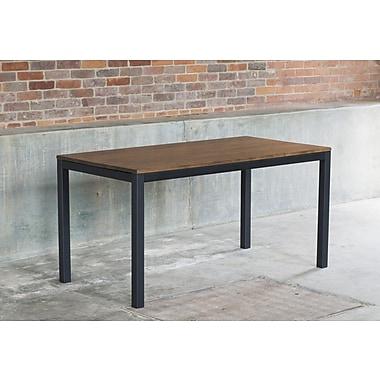 Elan Furniture Loft Dining Table; Chocolate / Checker Black