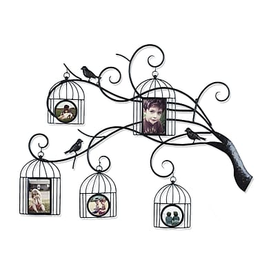 AdecoTrading Collage Wall Hanging 5 Opening Family Tree Scroll Picture Frame