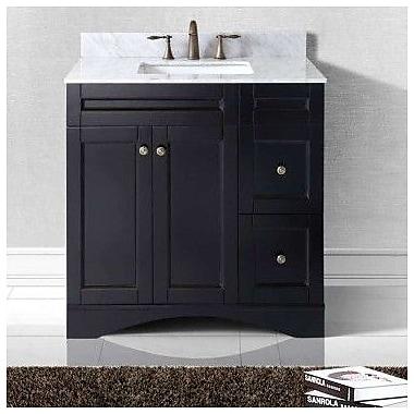 Virtu USA Elise 36'' Bathroom Vanity Cabinet; Espresso