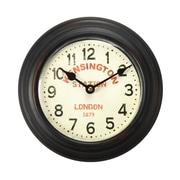 AdecoTrading 8.2'' Retro Round ''Kensington Station'' Wall Hanging Clock