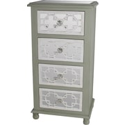 Privilege 4 Drawer Mirrored Chest