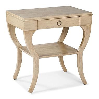 Fairfield Chair End Table w/ Storage; Light Dusty Khaki