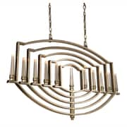 Artcraft Lighting Perceptions 11 Ligh Candle-Style Chandelier; Silver Leaf