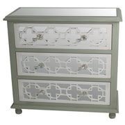 Privilege 3 Drawer Mirrored Chest