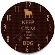 Stupell Industries 12'' Keep Calm and Blame The Dog Vanity Clock