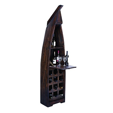 Woodland Imports Boat 15 Bottle Floor Wine Rack