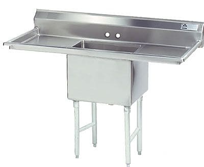 Advance Tabco Single Fabricated Bowl 1 Compartment Scullery Sink; 43'' H x 60'' W x 29'' D
