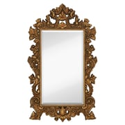 Majestic Mirror Tall Rectangle Traditional Accent Mirror w/ Decorative Antique Gold Leaf Frame