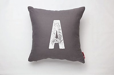 Posh365 Alphabet Letter ''A'' Decorative Throw Pillow
