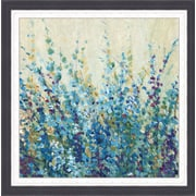Ashton Wall D cor LLC In Bloom 'Shades of Blue I' Framed Painting Print
