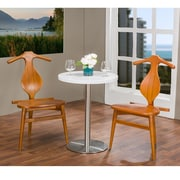 Wholesale Interiors Baxton Studio Granard Side Chair (Set of 2); Light Brown