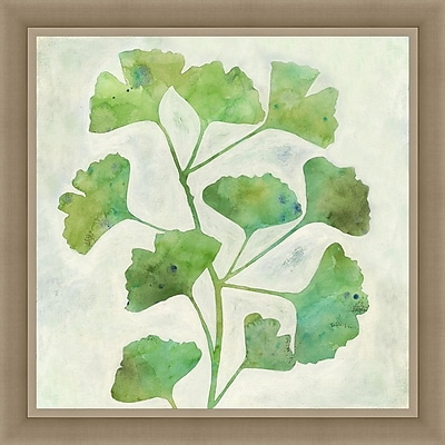 Ashton Wall D cor LLC In Bloom 'Ginkgo Green II' Framed Painting Print