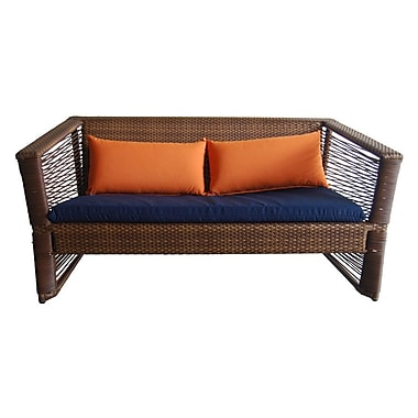 100 Essentials Borneo Loveseat w/ Cushions