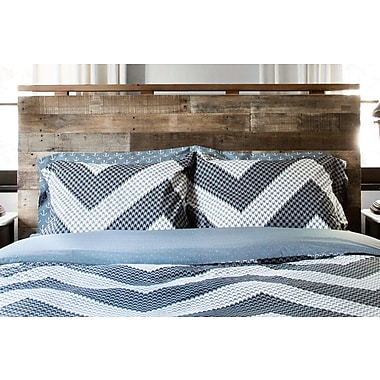 Thread Experiment Houndstooth 100pct Cotton Reversible Duvet Set; King / Cal King