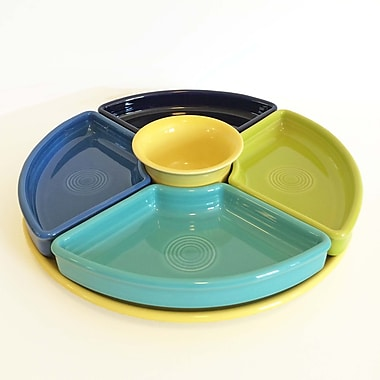 Fiesta 6 Piece Bowl & Tray Set; Cobalt/Turquoise/Lemongrass/Lapis/Sunflower