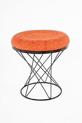Control Brand 18.11 in. Orange Tyras Stool (FXC436ORG)