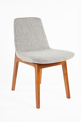 Control Brand Twill Fabric Roermond Side Chair, Grey (FXC835GREY)