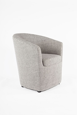 Control Brand Twill Fabric Tykby Lounge Chair, Grey (FXC88088GREY)