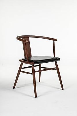 Control Brand Leatherette Vardo Arm Chair, Black (FYC023BLK)