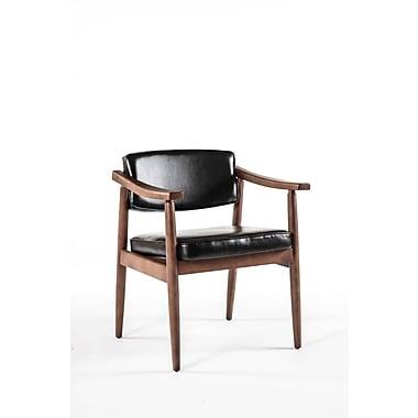 Control Brand Leatherette Jonkobing Arm Chair, Black (FYC035BLK)