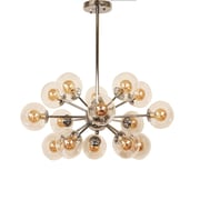 Control Brand Ystad Chandelier, Clear/Chrome (LS1202S)