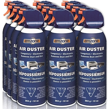 EMZONE Super Value/Pack Air Duster Aerosol, 10oz, 12/Pack