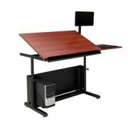 "Versa Tables  48"" x 30"" Steel Frame, Laminated Wood  Drafting Table Cherry  (SPB20148300102)"