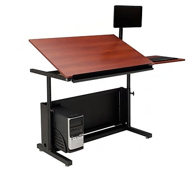 OFM 36'' Rectangular Drafting Table, Cherry (SPB20136300102)