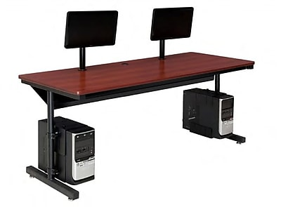OFM Versa Series 72'' Rectangular Computer Table, Cherry (SPB10172300102)