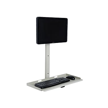 Versa Tables Wall Mount Sit & Stand Desk, Beige (SP30102)