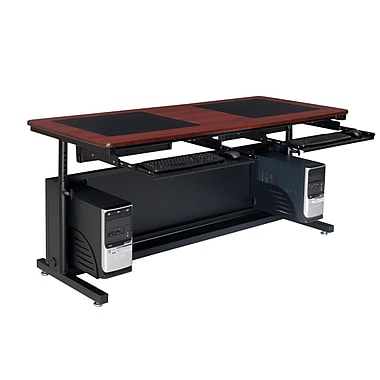 OFM Downview 72'' Rectangular Height Adjustable Table, Cherry (SP10572240102)