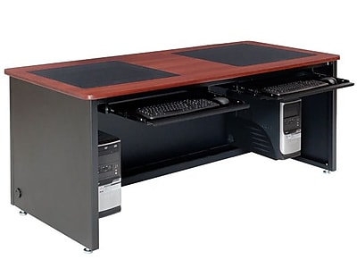 OFM Downview 72'' Rectangular Computer Table, Cherry (SP10672240102)