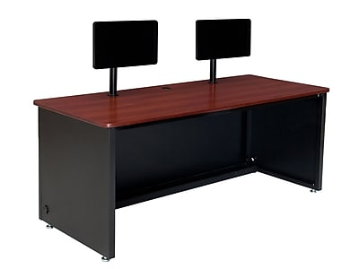 OFM Enclosed 60'' Rectangular Computer Table, Cherry (SPB10960240102)