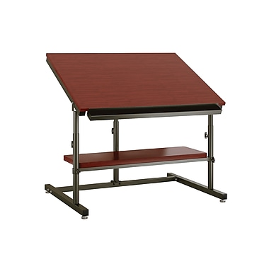 Versa Tables 48''Lx36''D Rectangular Drafting Table, Cherry