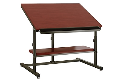 Versa Tables 48''Lx36''D Rectangular Drafting Table, Cherry