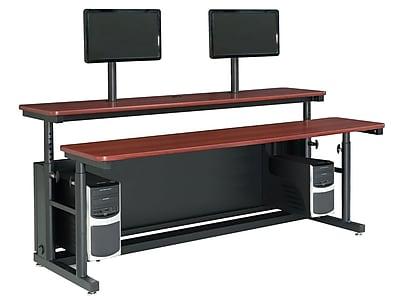 Versa Tables Computer Table Split Level Adjustable 72