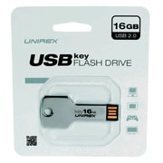 Unirex 16GB USB 2.0 Flash Drive, Black (usfk-216)