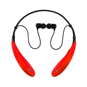 Supersonic iq-127bt-red Earbuds Headphones with Mic, Red