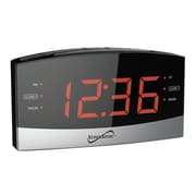 Supersonic Bluetooth® Dual Alarm Clock Radio (sc-381bt)
