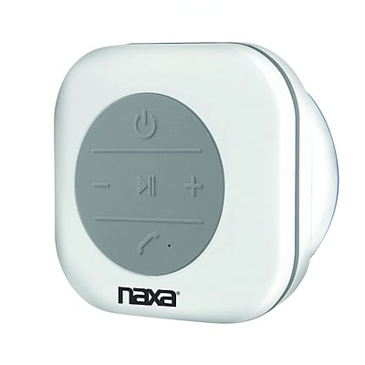 Naxa nas-3078 Waterproof Shower Speaker; White