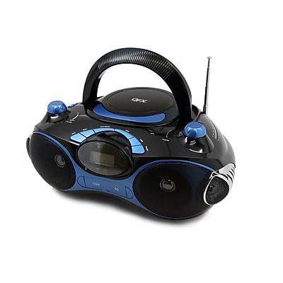 Quantum FX j-30u-blu Radio CD/MP3 Player, Blue/Black