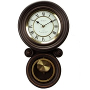 Bedford Mantel Clock with Pendulum, Solid Black Oak, Wall (bed-1235)