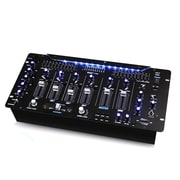 Pyle Bluetooth 6-Channel DJ Mixer Rack Mount System LED Illuminated Controls, 90 - 240 V (pyd1964b)