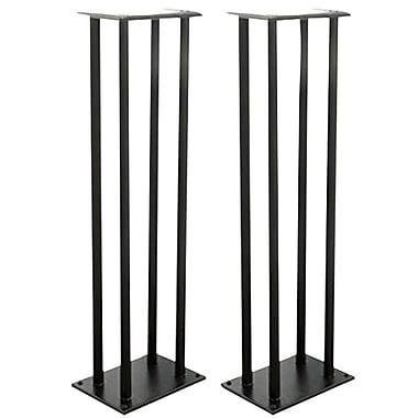 Pyle 68888989732 Bookshelf/Monitor Speaker Stand, Black