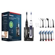Pursonic Dual Handle Sonic Electric Toothbrush with UV Sanitizer, Black/White (S452-BW)