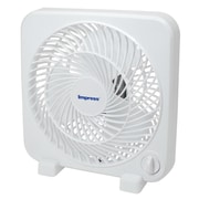 "Impress 9"" Box Fan, White (im-719)"