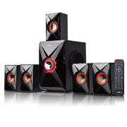 BeFree Sound Bluetooth Speaker System, bfs-420, 25 W & 10 W x 5, Orange