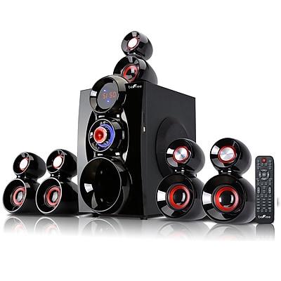 BeFree Sound Bluetooth Speaker System, bfs-600, 80 W & 18 Wx5, Red